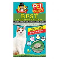 Nisip igienic Pet Expert Best Clumping Natural, 5 L