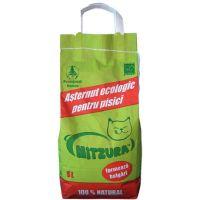 Asternut ecologic pentru pisici, Mitzura Nisip Aglomerant Clasic, 5 L