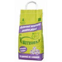 Asternut ecologic pentru pisici, Mitzura Nisip Aglomerant Lavanda, 5 L