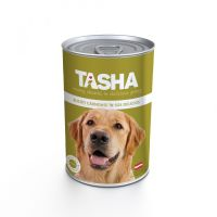 Hrana umeda pentru Caini Tasha Dog Conserva Pui, 415g