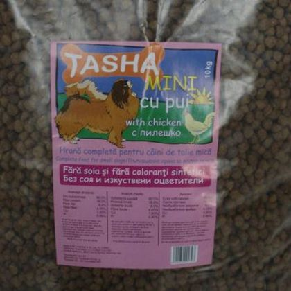 Hrana uscata pentru Caini Tasha Mini, 10 Kg