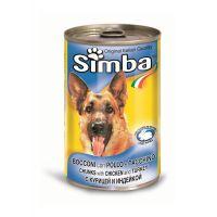 Hrana umeda pentru Caini Simba Dog Conserva cu Pui si Curcan, 415g