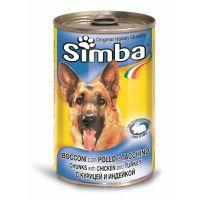 Hrana umeda pentru Caini Simba Dog Conserva cu Pui si Curcan, 1230g