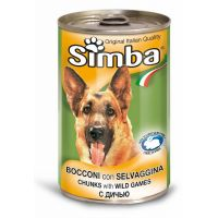 Hrana umeda pentru Caini Simba Dog Conserva cu Vanat, 1230g