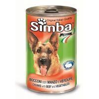 Hrana umeda pentru Caini Simba Dog Conserva cu Vita si Legume, 1230g
