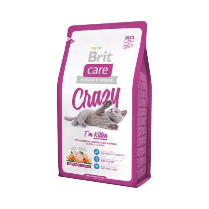 Hrana uscata pentru pisici Brit Care Cat Crazy Kitten, 7 Kg + 2 Kg Gratis