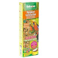 Baton Papagali Mici cu Fructe Tropicale Belcuore, 115g / 2 buc.