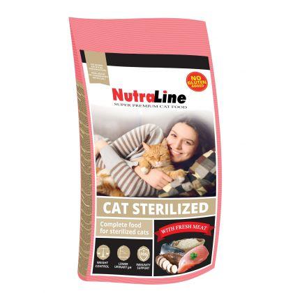 Hrana uscata pentru pisici, Nutraline Cat Sterilized, 1.5 Kg