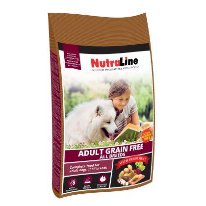 Hrana uscata pentru caini, Nutraline Dog Adult Grain Free, 3 Kg