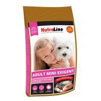 Hrana uscata pentru caini, Nutraline Dog Adult Mini Exigent, 8 Kg