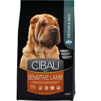 Hrana uscata pentru caini Cibau Sensitive Lamb Medium/Maxi, 2.5 Kg