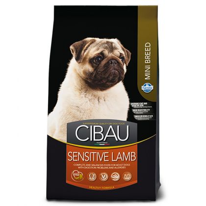 Hrana uscata pentru caini Cibau Sensitive Lamb Mini, 2.5 Kg