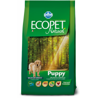 Hrana uscata pentru caini Ecopet Natural Puppy Medium, 12 Kg