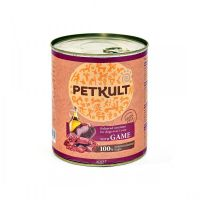 Hrana umeda pentru caini Petkult Adult Dog Vanat, 800g