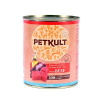 Hrana umeda pentru caini Petkult Junior cu Vita, 800g