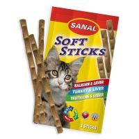 Recompense pentru pisici, Sanal Sticks Curcan si Ficat, 15 g