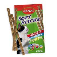 Recompense pentru pisici, Sanal Sticks Miel si Orez, 15 g