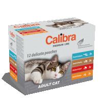 Plicuri pentru pisica, Calibra Cat Adult Multipack, 12 x 100 g