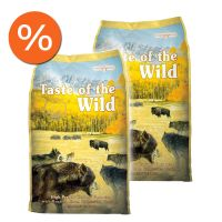 Pachet economic: Taste of the Wild High Prairie Canine Formula, 2 x 13 Kg