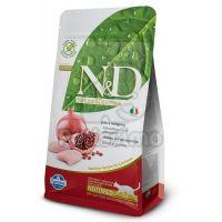 Hrana uscata pentru pisici, N&D Cat Adult Neutered cu Pui si Rodie, 5 Kg
