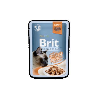 Hrana umeda pentru pisici, Brit Cat Delicate Curcan in sos, 85 g