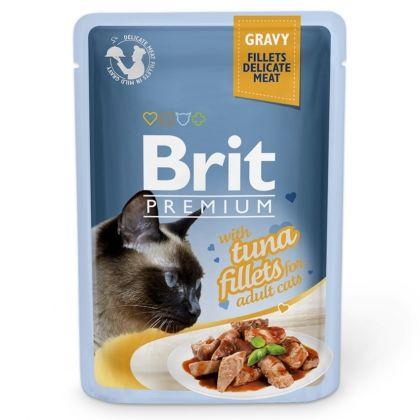 Hrana umeda pentru pisici, Brit Cat Delicate Ton in sos, 85 g