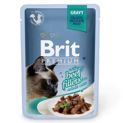 Hrana umeda pentru pisici, Brit Cat Delicate Vita in sos, 85 g