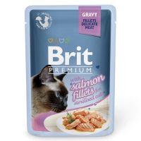 Hrana umeda pentru pisici, Brit Cat Delicate Sterilised Somon in sos, 85 g