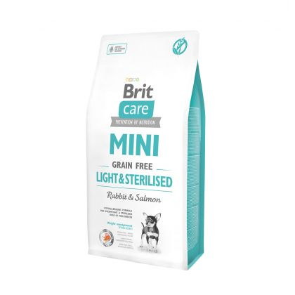 Hrana uscata pentru caini Brit Care Mini Grain Free Light and Sterilised, 7 Kg