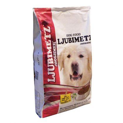 Hrana uscata pentru caini, Ljubimetz Dog cu Miel si Orez, 10 kg