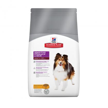 Hrana uscata pentru caini, Hill's SP Canine Adult Sensitive Stomach & Skin, 3 kg