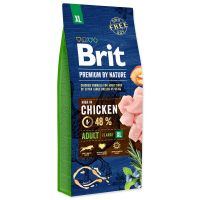 Hrana uscata pentru caini Brit Premium by Nature Adult XL, 15 Kg
