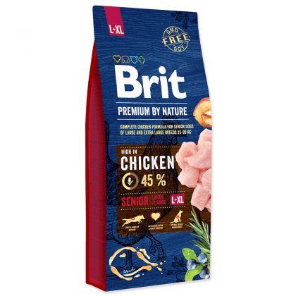 Hrana uscata pentru caini Brit Premium by Nature Senior L-XL, 15 Kg