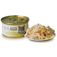 Hrana umeda pentru Pisici Brit Care Piept de Pui si Branza, 80 g