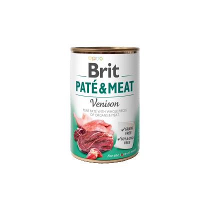 Conserva cu bucati de carne si pate, Brit Pate & Meat cu Vanat, 400 g