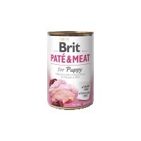 Conserva cu bucati de carne si pate, Brit Pate & Meat Puppy, 400 g