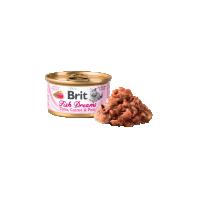 Conserva pentru pisici, Brit Fish Dreams cu Ton, Morcovi si Mazare, 80 g