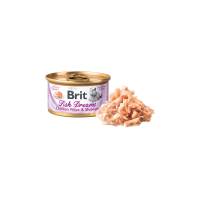 Conserva pentru pisici, Brit Fish Dreams cu Pui si Creveti, 80 g
