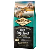 Carnilove Fresh cu Crap si Pastrav, Fara cereale si cartofi, 12 Kg
