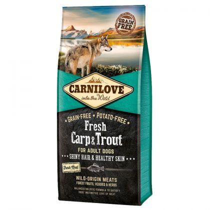 Hrana uscata pentru caini Carnilove Fresh cu Crap si Pastrav, Fara cereale si cartofi, 12 Kg