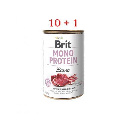 Brit Mono Protein cu Miel 400 g, 10 conserve + 1 gratis