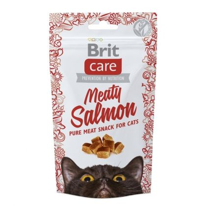 Brit Care Cat Snack Meaty cu Somon, 50 g