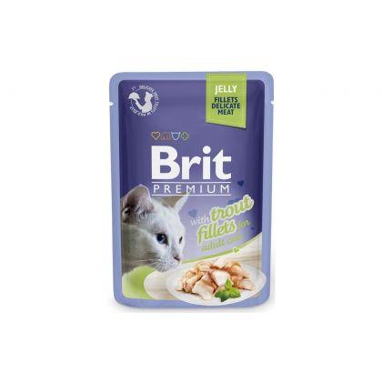 Hrana umeda pentru pisici, Brit Cat Delicate Pastrav in Jeleu, 85 g