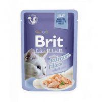 Hrana umeda pentru pisici, Brit Cat Delicate Somon in Jeleu, 85 g