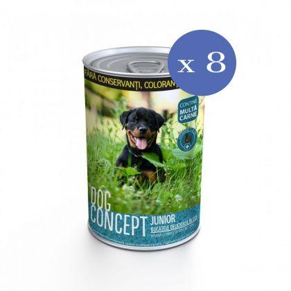 8 x Conserva pentru caini Dog Concept Junior, 415 g