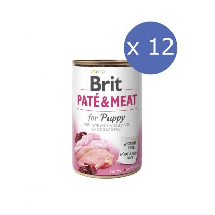 12 x Brit Pate & Meat Puppy, 400 g