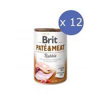 12 x Brit Pate & Meat cu Iepure, 400 g