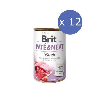 12 x Brit Pate & Meat cu Miel, 400 g