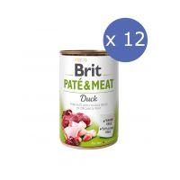 12 x Brit Pate & Meat cu Rata, 400 g
