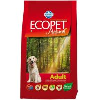 Hrana uscata pentru caini Ecopet Natural Adult Mediu, 12 + 5 Kg